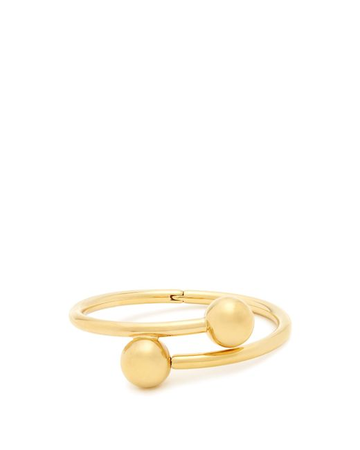 J.W. Anderson   Metallic Double-sphere Gold-plated Bangle   Lyst