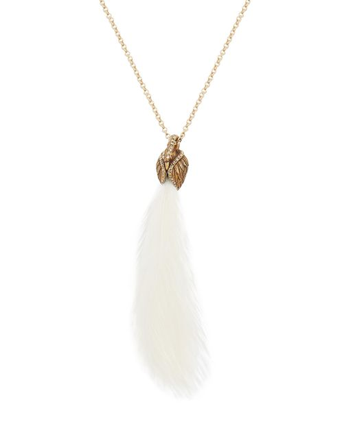 Lanvin   White Feather-embellished Swan Necklace   Lyst