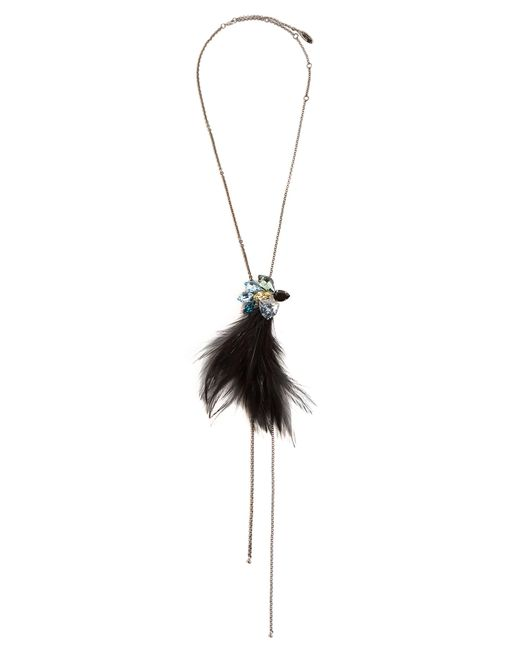 Lanvin | Multicolor Jewel And Feather Necklace | Lyst
