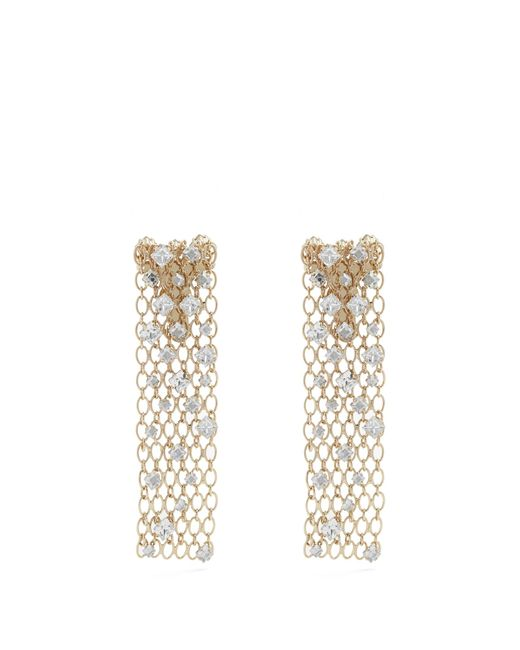 Lanvin | Metallic Crystal-embellished Chain Clip-on Earrings | Lyst