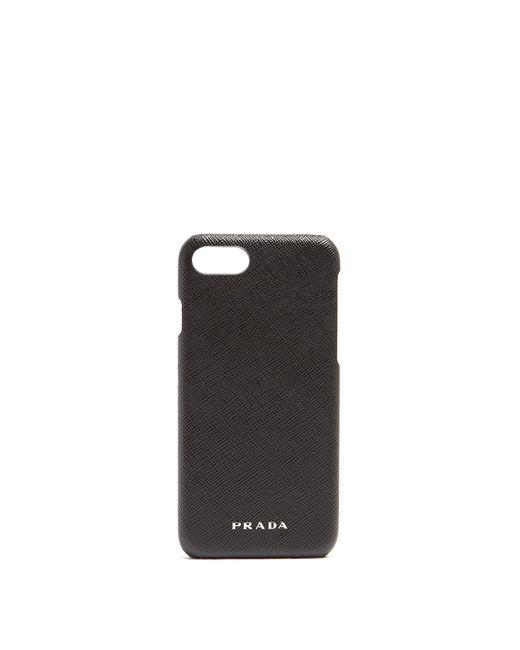Prada | Black Leather Iphone 7® Case | Lyst