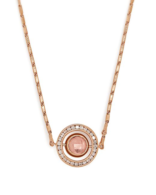 Marie Mas | Pink Small Diamond, Amethyst, Topaz & Gold Necklace | Lyst