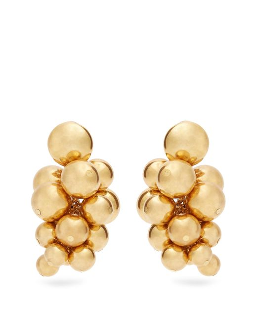 Oscar de la Renta | Metallic Sphere-embellished Cluster Clip-on Earrings | Lyst