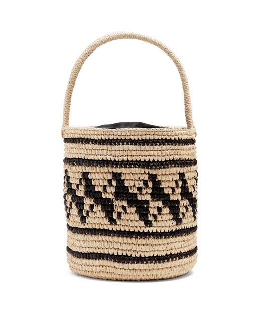 Sensi Studio | Black Geometric-woven Toquilla-straw Basket Bag | Lyst