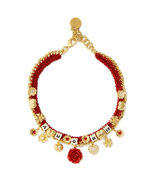 Dolce & Gabbana | Red Amore-embellished Necklace | Lyst