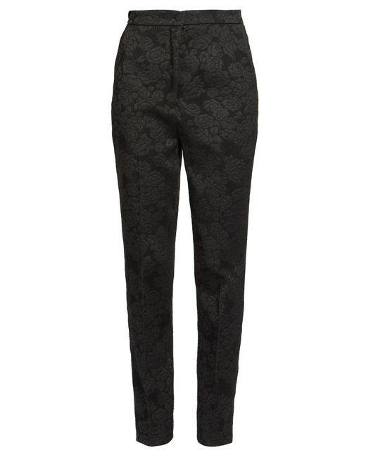 Dolce & Gabbana | Black High-rise Slim-leg Jacquard Trousers | Lyst
