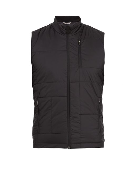 Falke | Black Quilted Technical-fabric Gilet for Men | Lyst