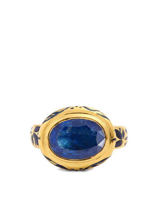 Jade Jagger   Blue Kyanite, Enamel & Yellow-gold Ring   Lyst