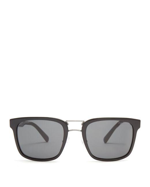 Prada | Black Square-frame Acetate Sunglasses for Men | Lyst
