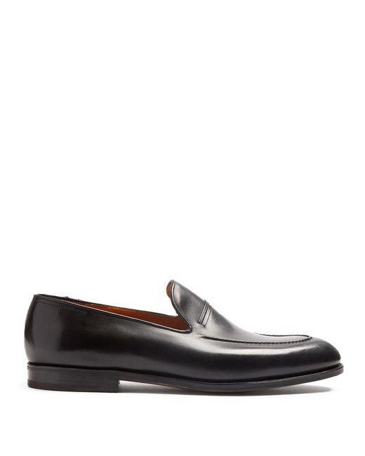 John Lobb   Black Amble Leather Loafer for Men   Lyst
