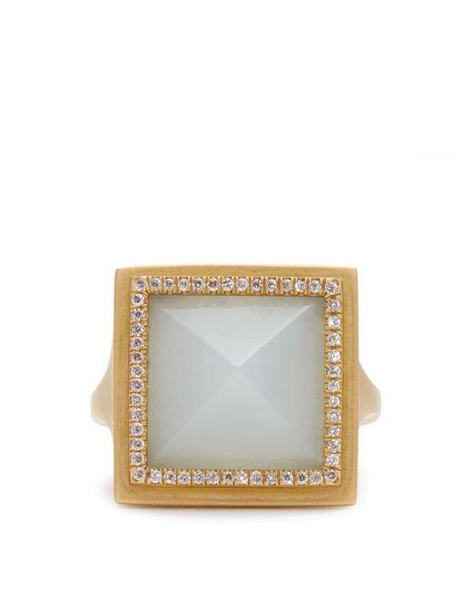 Monique Péan   Gray Diamond, Jade & Yellow-gold Ring   Lyst