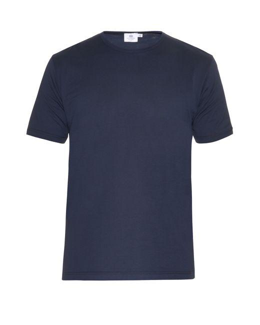 Sunspel | Blue Crewneck Tshirt for Men | Lyst