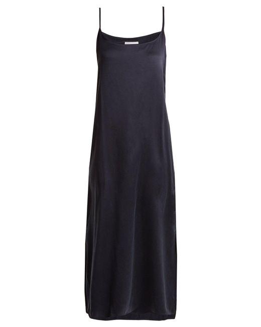 Beautiful Bottoms - Blue Scoop-neck Sandwashed-silk Nightdress - Lyst