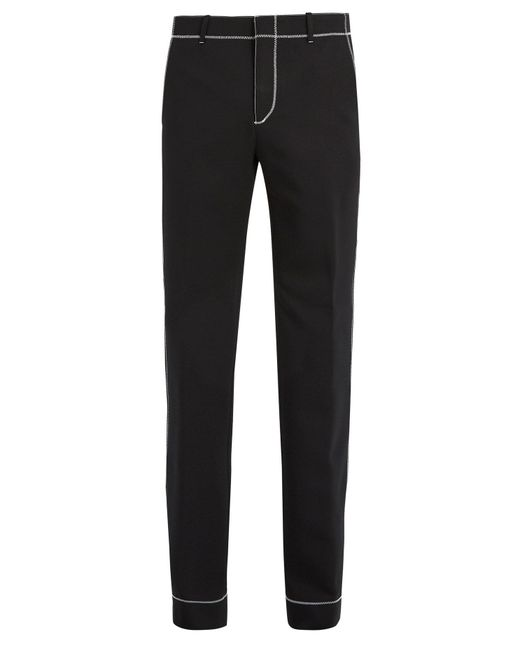 Givenchy | Black Stitch-detail Straight-leg Trousers for Men | Lyst