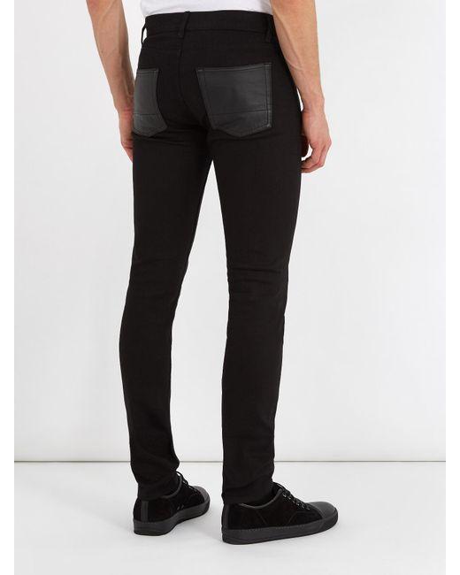 Skinny-fit Striped Stretch-denim Jeans Alexander McQueen 4SpLcA1Hyo