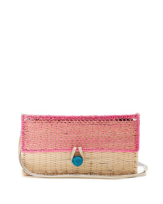 Sophie Anderson - Pink Romina Toquilla Straw Cross Body Bag - Lyst