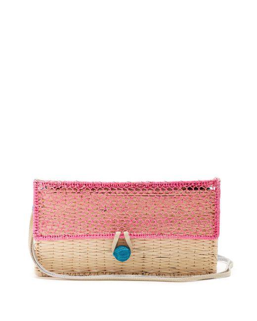 Sophie Anderson - Pink Color-block Straw Shoulder Bag - Lyst