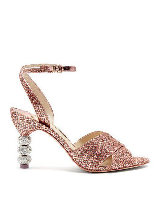 Natalia crystal embellished-heel velvet sandals Sophia Webster Mr1ITK