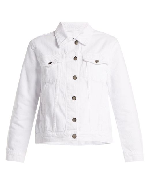 FRAME - White Rigid Re-release Denim Jacket - Lyst