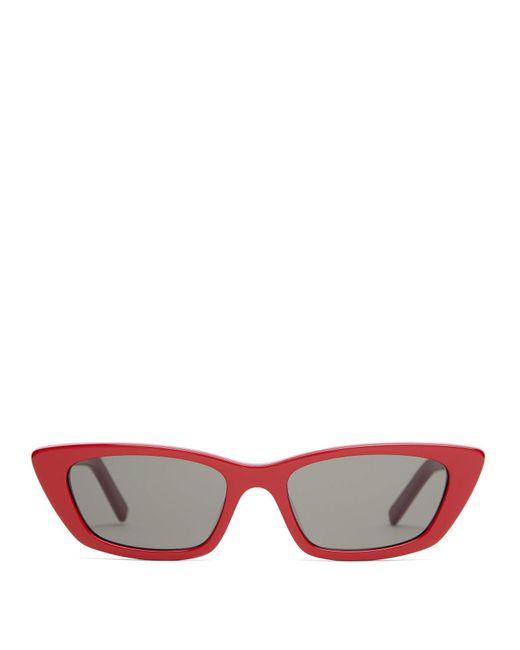 d4512cc608 Saint Laurent - Multicolor Cat Eye Acetate Sunglasses - Lyst ...