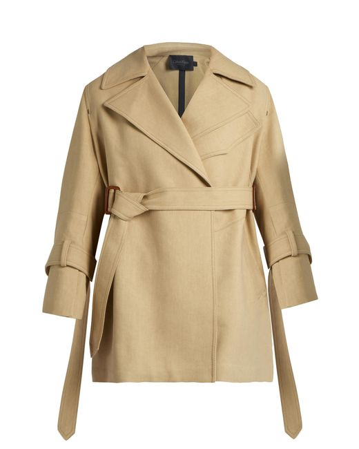 Calvin Klein | Natural Kenneth Belted Trench Coat | Lyst