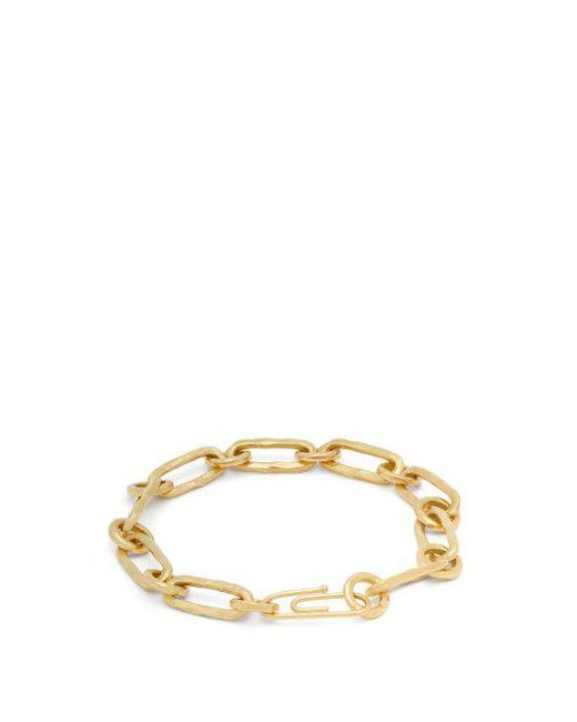 Aurélie Bidermann Hammered Chain 18kt gold bracelet 5C6cU