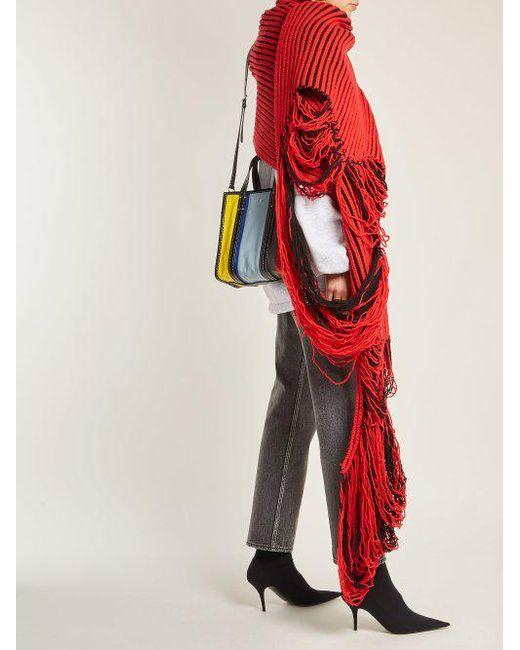 Virgin-wool knit scarf Balenciaga nfOkKzb