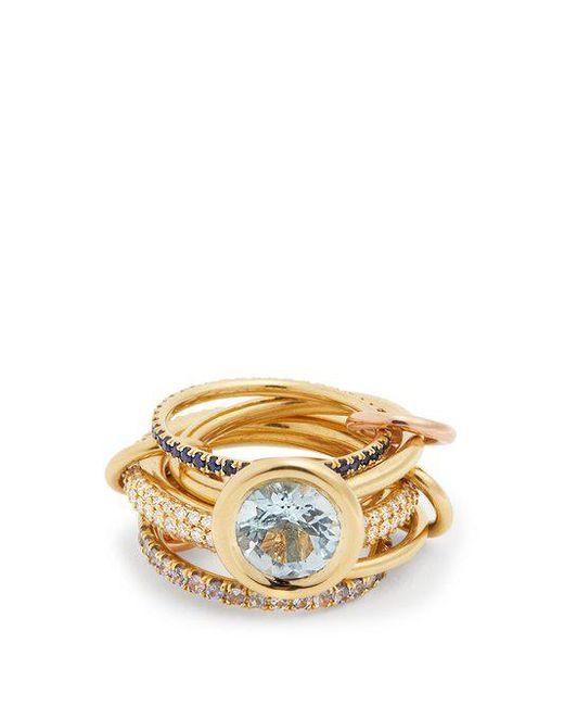 Spinelli Kilcollin - Blue Rana Diamond, Yellow-gold & Rose-gold Rings - Lyst