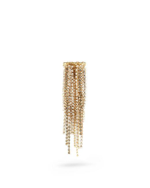Lanvin | Metallic Crystal-embellished Fringed Brooch | Lyst