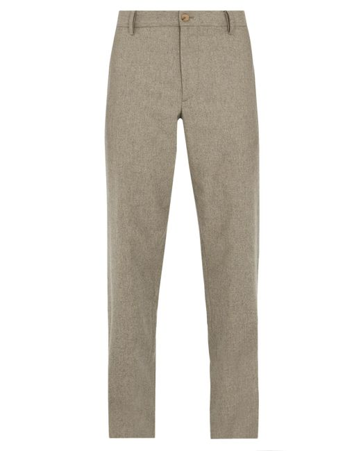Giorgio Armani - Natural Relaxed-fit Wool-blend Trousers for Men - Lyst