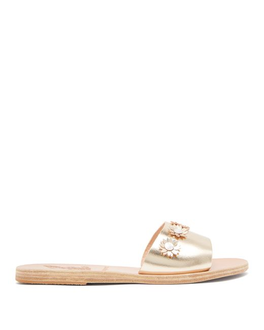 Ancient Greek Sandals - Multicolor X Fabrizio Daisy Appliqué Slides - Lyst