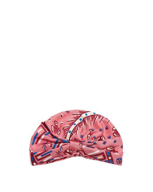 Valentino | Pink Abstract-print Silk-satin Turban Hat | Lyst