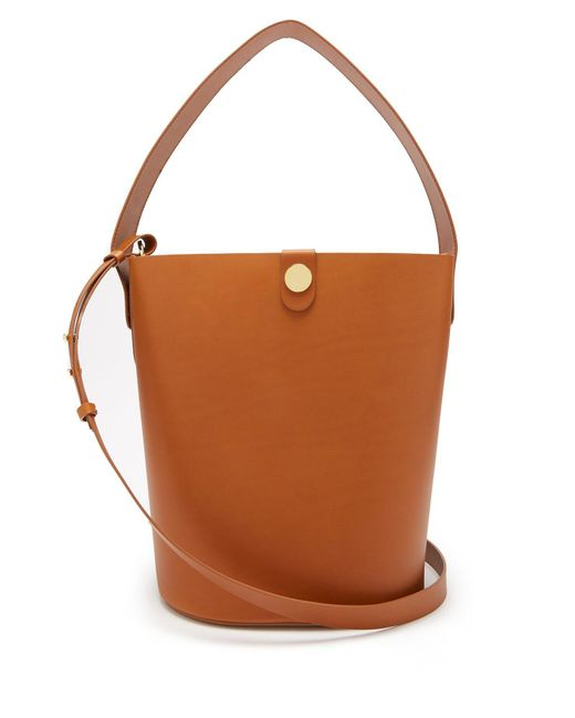 Sophie Hulme - Brown Large Swing Leather Bucket Bag - Lyst