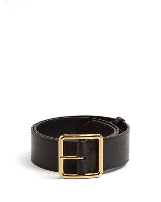 Alexander McQueen - Black Leather Waist Belt - Lyst