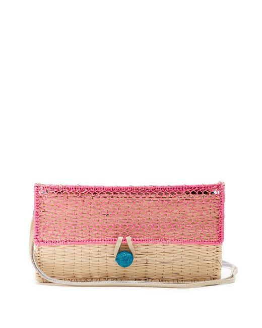 Sophie Anderson - Pink Romina Toquilla-straw Cross-body Bag - Lyst