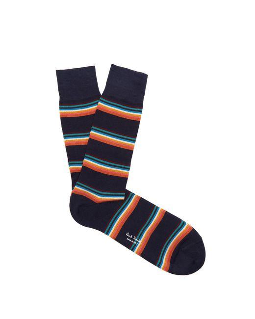 Paul Smith | Blue Artist Stripe Cotton-blend Socks for Men | Lyst