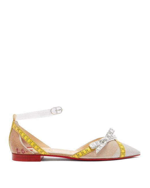 Christian Louboutin - Multicolor Metripump Measuring Tape-embellished Flats - Lyst