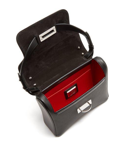 fcecc2e988 ... Christian Louboutin - Black Ruby Lou Medium Calf Empire Shoulder Bag -  Lyst ...