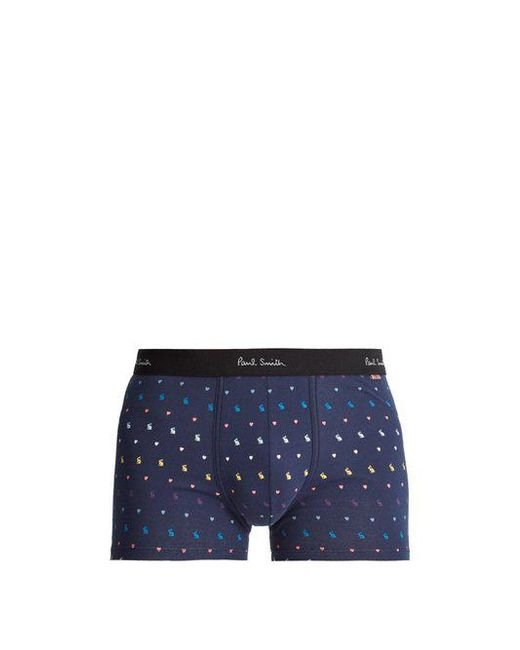 Paul Smith - Blue Bunny-print Stretch-cotton Boxer Shorts for Men - Lyst
