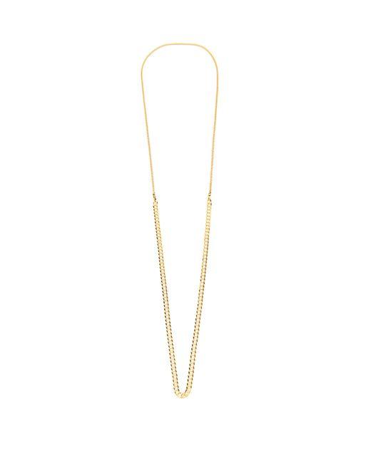 Black Dakini - Metallic Collier en vermeil doré à chaîne contrastante for Men - Lyst