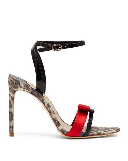 146929ab925 Sophia Webster - Black Andie Leopard Print Leather Sandals - Lyst ...