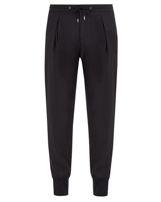 Paul Smith | Blue Pleat-detail Wool-blend Track Pants for Men | Lyst