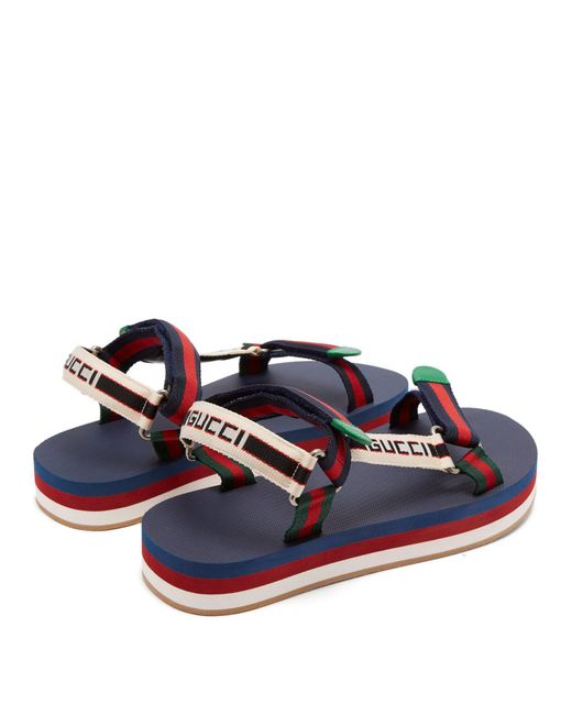 121ee6f25bd ... Gucci - Multicolor Bedlam Logo Strap Sandals for Men - Lyst ...