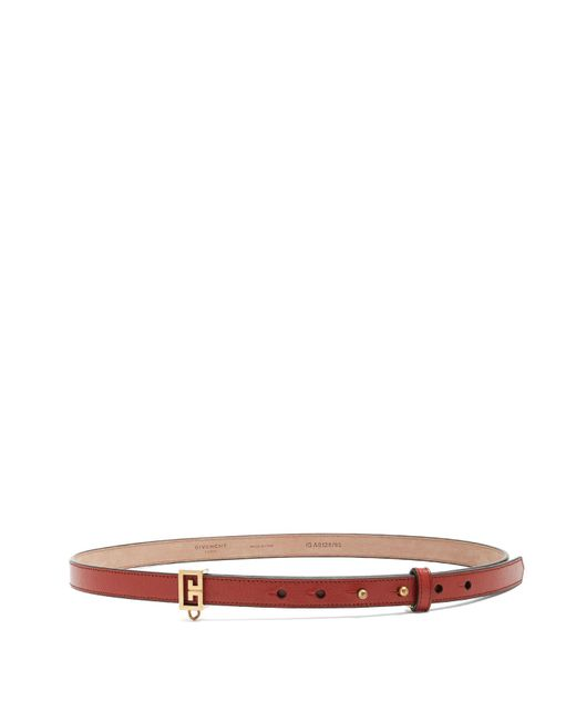 Chain-detail leather belt Givenchy kk3KNG
