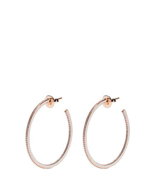 Raphaele Canot - Metallic Skinny Deco Diamond, Enamel & Pink-gold Earrings - Lyst