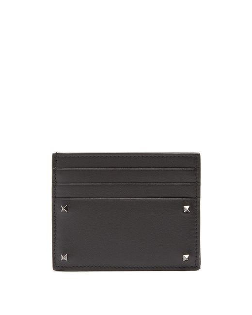 Valentino | Multicolor Micro Rockstud Leather Cardholder for Men | Lyst