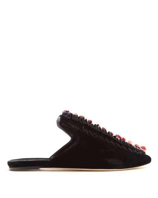 Sanayi 313 | Multicolor Cartellate Velvet Slipper Shoes | Lyst