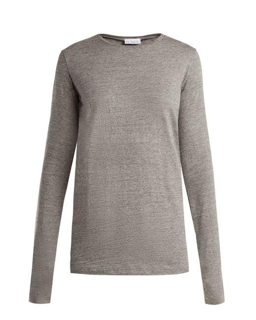 Raey - Gray Long Sleeved Slubby Cotton Jersey T Shirt - Lyst