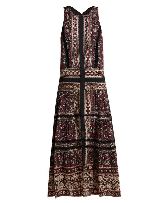 Sea - Brown Ezri Crochet Trimmed Printed Georgette Dress - Lyst