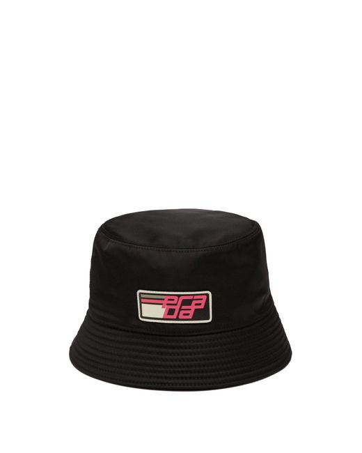 Prada - Black Nylon Bucket Hat - Lyst